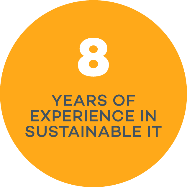 8 years experience in sustainable IT